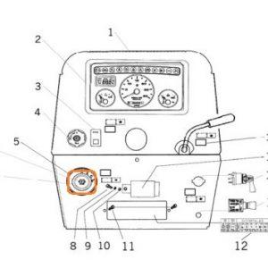 Marş Kontak Anahtarı (11 Fişli) Massey Ferguson 266G – 277G – 288G Orjinal Muadili OC130520181730
