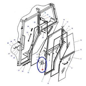 Kabin Kapı İç Açma Kolu (kabin kilidi) Sağ Massey Ferguson 265 – 265S – 275 – 285 – 285S – 265S – 3105 Orjinal Muadili OC0805201808061
