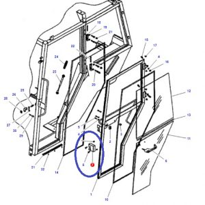 Kabin Kapı İç Açma Kolu Sol Massey Ferguson 265 – 265S – 275 – 285 – 285S – 3105 Orjinal Kalitesinde OC080520180806