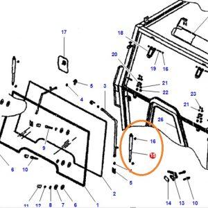 Kabin Ön Cam Amortisörü Massey Ferguson 265 – 265S – 285 – 285S Orjinal OC120520181722