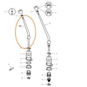 Vites Kolu Kısa Takviye (L-H) 8×2 Şanzıman Massey Ferguson 255EP Orjinal Muadili OC301120181903