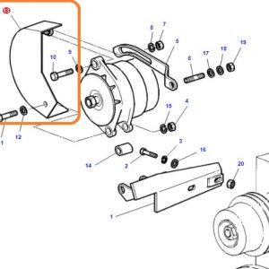 Alternatör Muhafaza Sacı Massey Ferguson 285 Yerli Üretim OC140520181853