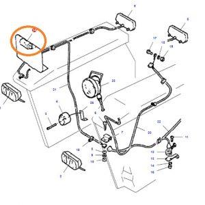 Plaka Lambası Metal Tip Eski Model Massey Ferguson 240 – 240S – 265 – 265S – 285 – 285S Yerli İmalat OC230420191517