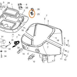 Autolift (Lift) Anahtarı Massey Ferguson 3050 – 3060 Orjinal OC130520181553