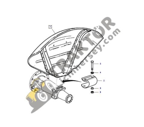 Çamurluk Delikli Yarım Tip Yeni Model Massey Ferguson 240 – 240S Sol Yerli İmalat OC1405201819253