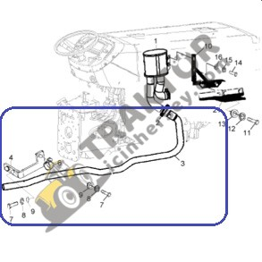 Massey Ferguson Egzoz Alttan 3050 – 3060 Ara Şanzımanlı (Ara Gövdeli Model) TIH000000286