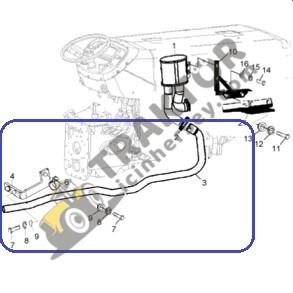 Massey Ferguson Egzoz Alttan Ara Boru 3050 – 3060 Standart Model Orjinal Kalitesinde TIH000000285