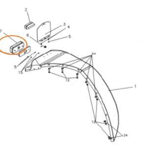 Arka Stop Lambası Yeni Model Massey Ferguson 3075 – 3085 – 3095 – 3105 Phantom Yerli İmalat OC121120182007