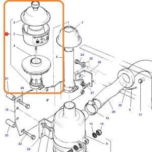 Hava Filtre Camlı Baca Borusuz Siyah Massey Ferguson 265 – 285 Yerli İmalat OC1205201816501