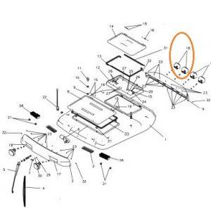 Kabin Aydınlatma Lambası Sol Taraf Yandan Bağlantı Massey Ferguson 3075 – 3085 – 3095 – 3105 Phantom Ekonomi OC210320180629