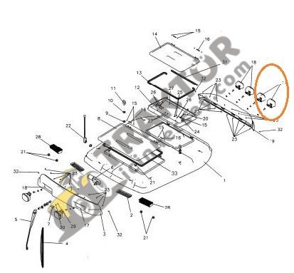 Kabin Aydınlatma Lambası Sağ Taraf Yandan Bağlantı Massey Ferguson 3075 – 3085 – 3095 – 3105 Phantom Ekonomi OC210320180625