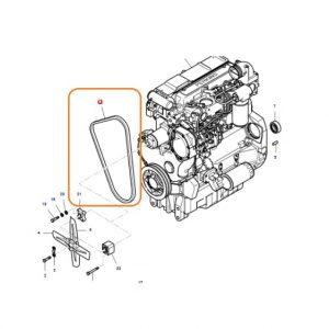 Vantilatör Kayışı Massey Ferguson 240 – 240S Orjinal OC080720181053