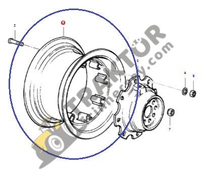 Arka Jant Çemberi 11×28 6Kulaklı Massey Ferguson 240 – 240S Jantsa OC060520181743