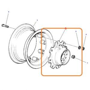 Arka Jant Göbeği 12X36 – 12X38 Bombesi Dışarıda Massey Ferguson 165 – 285 – 285S – 398 Modelleri İçin Jantsa OC1105201818571