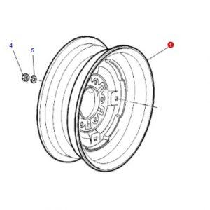 Ön Teker Jantı Massey Ferguson 165 – 265 – 265S – 285 – 285S Modelleri İçin 5.5×16 Jantsa OC060520181512