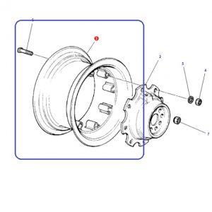 Arka Jant Çemberi Jantsa 12×38 8 Kulaklı Jantsa Massey Ferguson 398 – 3075 – 3085 – 3095 – 3105 Modelleri İçin OC090520181857