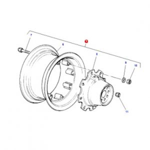 Ön Teker Komple Jant 8 Delik Massey Ferguson 265 – 265S – 285 – 285S 4×4 Modelleri İçin 10 x 24 Jamaş OC060520181538