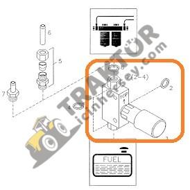 Mazot Otomatiği Hava Alma Pompası Deutz 02111961 Massey Ferguson 3075 – 3085 – 3095 – 3105 TIH000001226