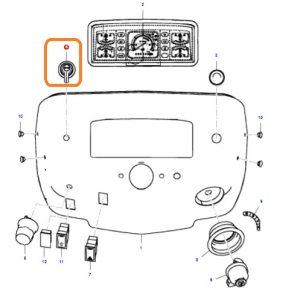 Sinyal Anahtarı Sağ – Sol Massey Ferguson Yeni Model 240 (Hindistan) – 240S (Hindistan) Orjinal OC030720182013