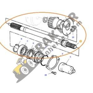 Kuyruk Mili 613mm Uzunluğunda 21 ve 6 Diş Massey Ferguson 240 – 240S – 255 – 265 – 265S – 285 – 285S Ekonomi TIH000001250