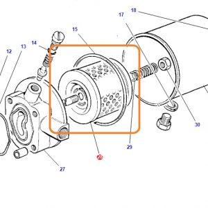 Hidrolik Direksiyon Yan Pompa Filtresi Massey Ferguson 265 – 285 Orjinal OC280720181742