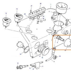 Kornalı Far Anahtarı Eski Model Massey Ferguson 240 – 240S – 265 – 265S – 285 – 285S Orjinal Muadili OC130520181911