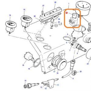 4lü Flaşör Çekme (Dörtlü İkaz) Anahtarı Komple Massey Ferguson 240 – 240S – 265 – 265S – 285 – 285S Orjinal Muadili OC130520181744