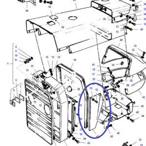 Ön Panjur Kaporta Yan Panel Sacı Sağ Massey Ferguson 240 – 240S Yerli İmalat OC070520180903