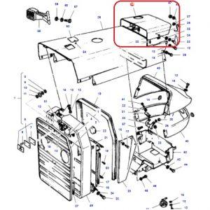 Akü Servis Kapağı Kaportası (Baca Delikli) Massey Ferguson 240 – 240S Ekonomi OC070520181158