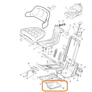 Oturak (Koltuk) Alt Bağlantı Braketi Massey Ferguson Tüm Modeller İçin OC130520181222