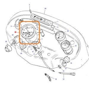 Takometre Gösterge Orjinal Massey Ferguson 240S OC270520181418