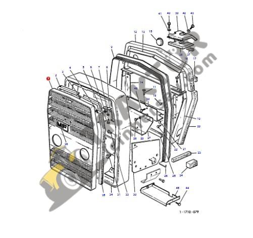 Ön Panjur Eski Model Massey Ferguson 265 – 285 Modelleri İçin Yerli İmalat OC0705201808041
