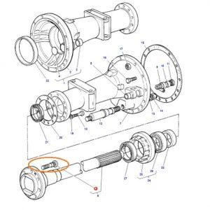 Arka Teker Bijon Civatası Massey Ferguson 135 – 240 – 240S Orjinal Muadili OC250620181239