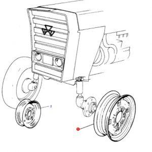 Ön Teker Jantı 5.5×18 Bombeli Göbekli Massey Ferguson 398 – 3075 – 3085 – 3095 – 3105 Modelleri İçin Jantsa OC060520181623