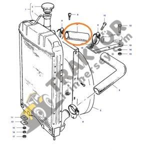 Radyatör Üst Hortumu Düz 132mm uzunluğunda 36mm iç çap Massey Ferguson 135 – 148 – 240 – 240S Ekonomi OC110820191640