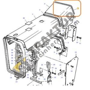 Gösterge Tabla Lastiği Fitil 1876176M2 Massey Ferguson 265 – 275 – 285 Orjinal TIH000001147