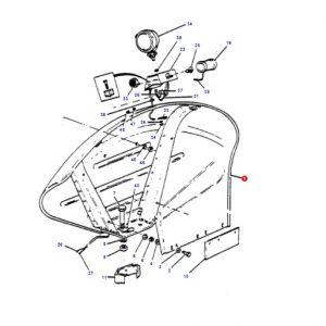 Yuvarlak, Paçalı Çamurluk, Sağ Massey Ferguson 135 – 165 – 240 – 240S – 260 Yerli Üretim OC1505201806231