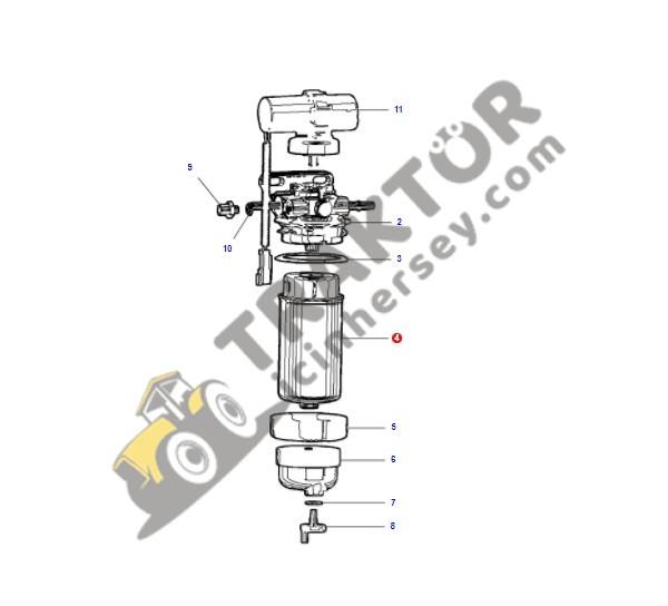 Yakıt Filtresi Massey Ferguson 2630 -2630GE – 2635 Orjinal Ürün OC230420181706