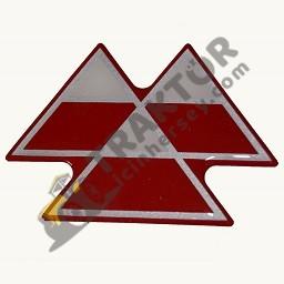 Amblem Ön Arma Kırmızı Yeni Model Massey Ferguson 240 (Hindistan) – 240S (Hindistan) – 2615GE – 2615 – 2620GE – 2620 – 2620XTRA – 2625F – 2625GE – 2625 – 2630F – 2630GE – 2630 – 2635 Orjinal TIH000000370
