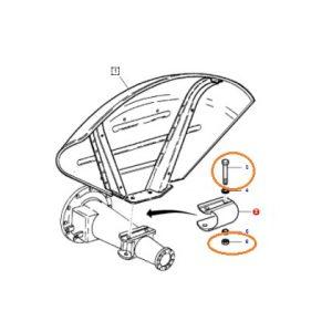 Çamurluk Civatası 22CM Somunlu Yeni Model Massey Ferguson 240 – 240S – 285 OC140520182017