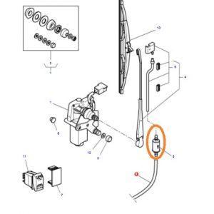 Arka Cam Silecek Basınç Valfi Massey Ferguson 4707 – 4708 – 4709 – 5400 – 6400 Serisi Orjinal OC200920180510