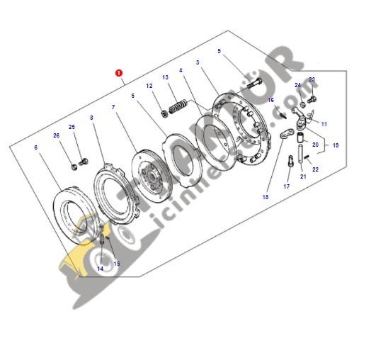Debriyaj Baskısı Massey Ferguson 265 – 265S – 275 – 285 – 285S 12inc İnce Freze Orjinal Muadili OC3004201823071