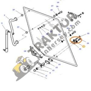Arka Ve Ön Cam Plastik Tutamak Plakası Massey Ferguson Orjinal TIH000001377