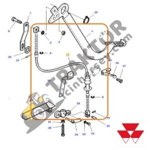 Debriyaj Pedal Teli Massey Ferguson 398 Orjinal TIH000001378