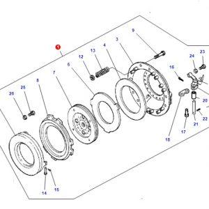 Debriyaj Baskısı Massey Ferguson 276 – 286 Orjinal Ince Freze 12inc OC010520181414