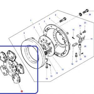 Debriyaj Balatası 5 Ped Serametalik Yaprak Massey Ferguson 276 – 286 Orjinal OC020520181448297