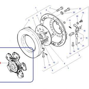 Debriyaj Balatası 5 Ped Göbekten Yaylı Massey Ferguson 266G – 277G Orjinal OC0205201814481