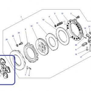Debriyaj Balatası 5 Ped Serametalik Yaprak Massey Ferguson 285 – 285S Orjinal OC0205201814482144
