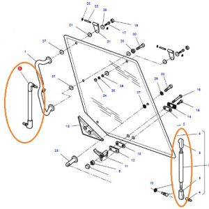 Arka Cam Amortisörü Massey Ferguson 5000 – 6000 – 7000- 8000 Serisi Orjinal OC161120181909