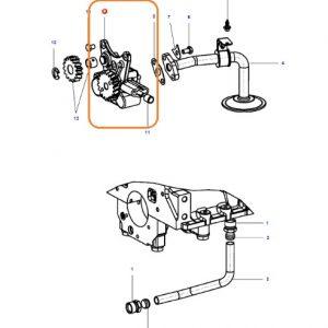 Yağ Pompası Massey Ferguson 240S (Hindistan) – 2615 – 2620 – 2625 – 2630 Orjinal OC290720180554
